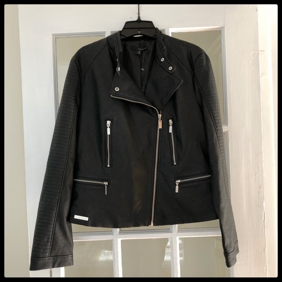 dab1ad045dd  Harvé Benard  Vegan Leather Moto Jacket